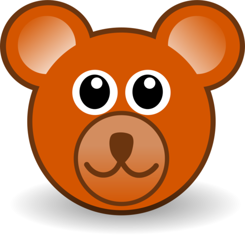 stock Free funny face brown. Vector doctor teddy bear