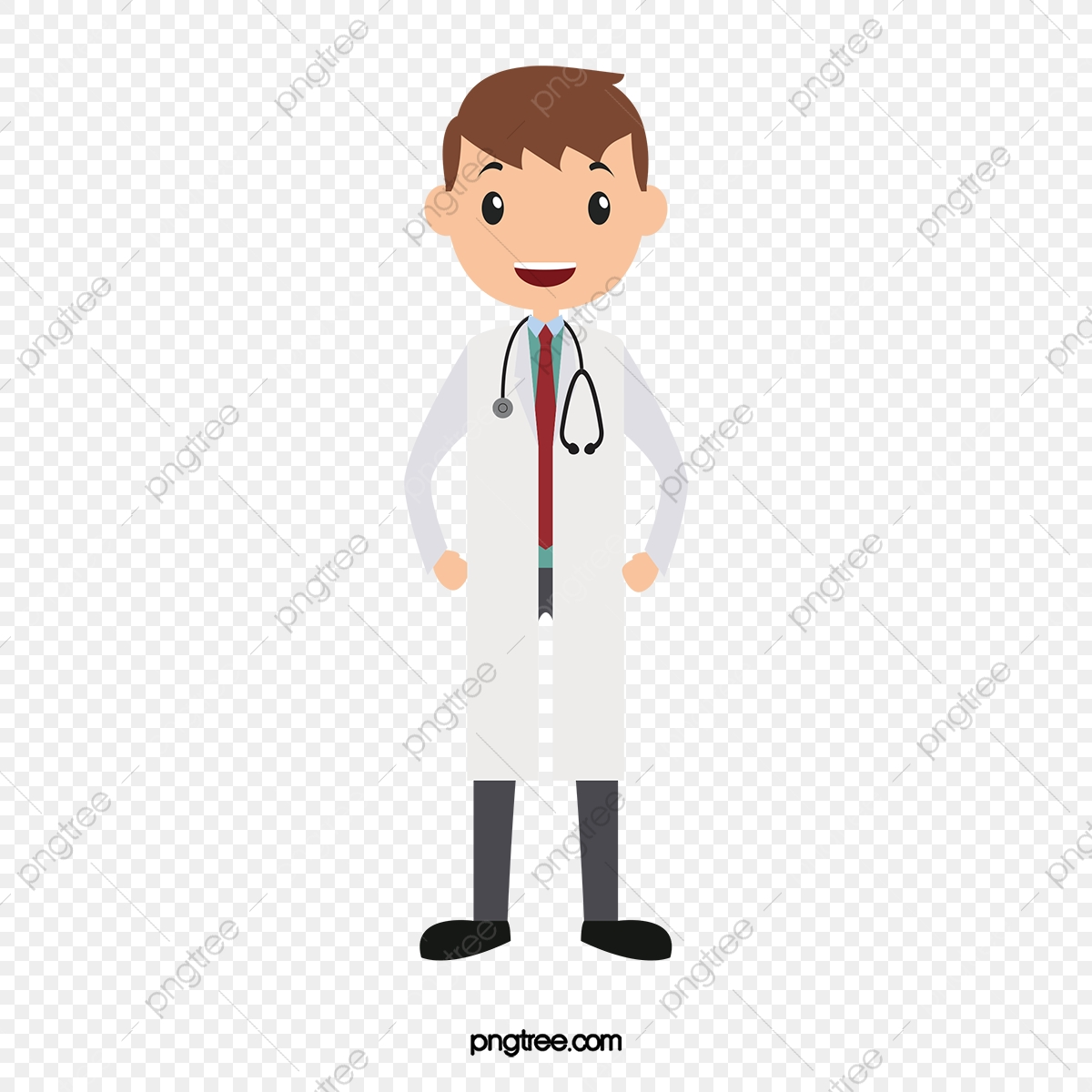 image download Young cartoon png and. Vector doctor transparent background