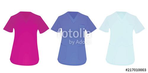 graphic freeuse stock Vector doctor uniform. Medical shirt illustration stock