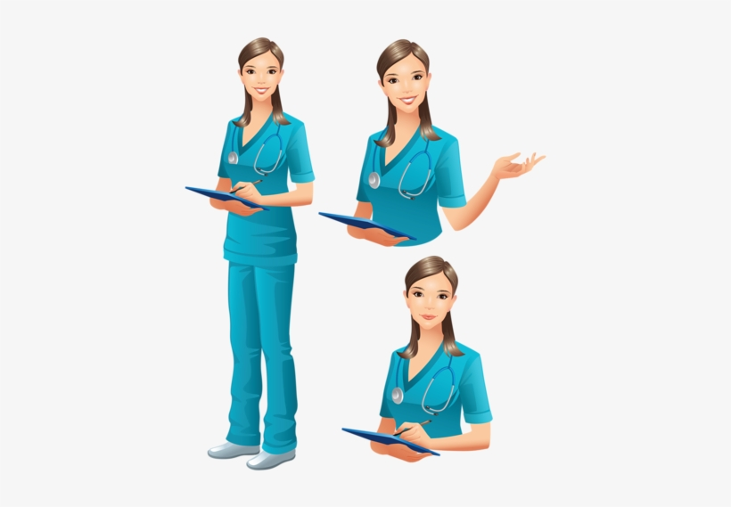 clip library  collection of clipart. Vector doctor woman