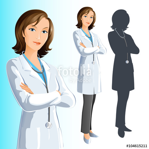 clipart freeuse download Stock image and royalty. Vector doctor woman