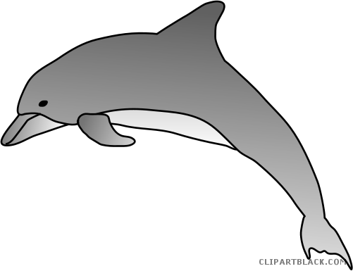 svg black and white library Encode clipart to base. Vector dolphin bottlenose