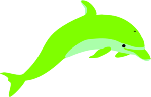 picture freeuse library Vector dolphin cartoon. Green clip art at