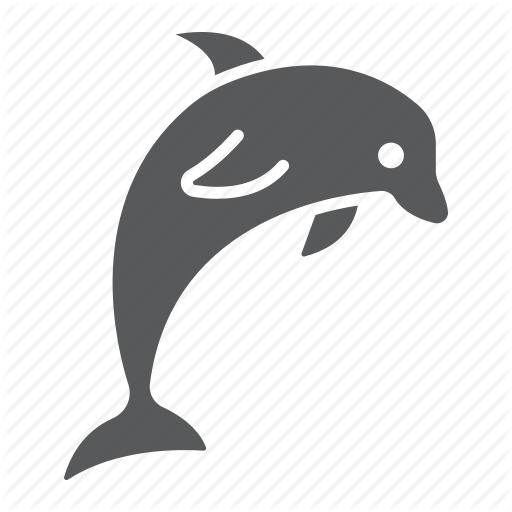 graphic free download Diving by fox design. Vector dolphin circle