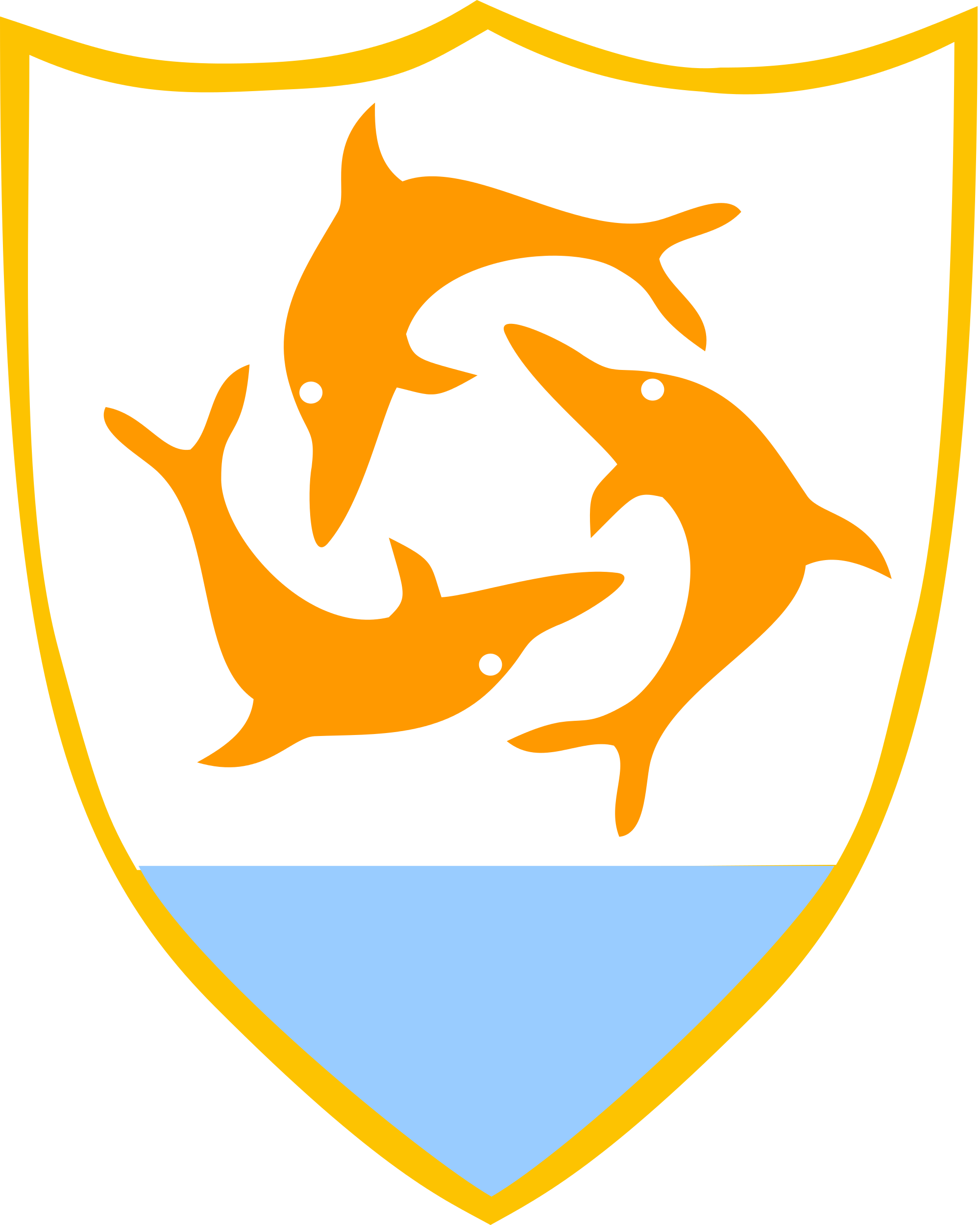 banner library download Vector dolphin coat arm. File of arms anguilla
