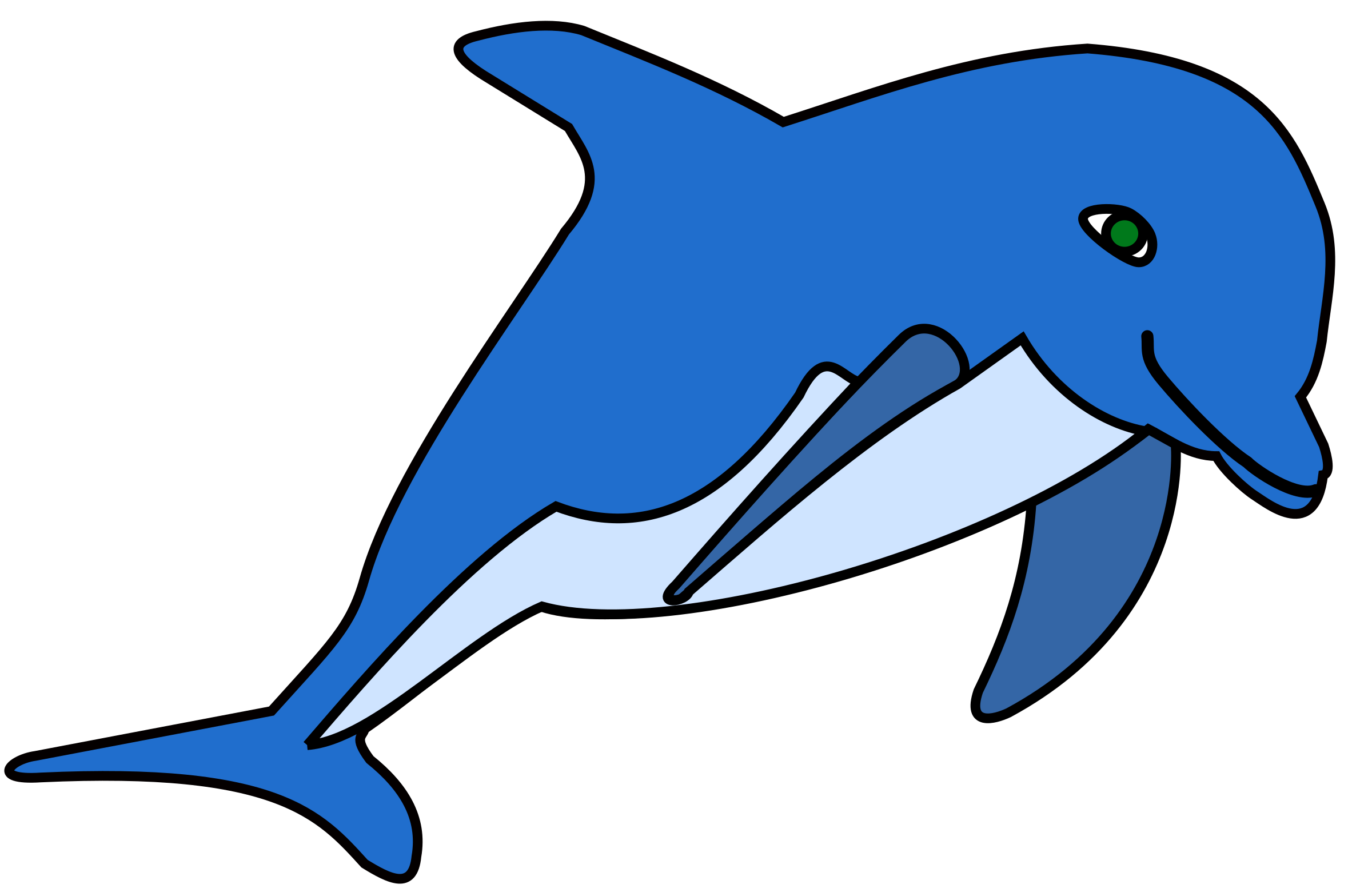 svg royalty free stock Vector dolphin coloured. Clipart delphin
