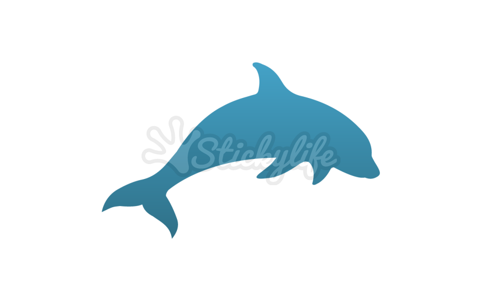clip art freeuse library Dolphin Decal