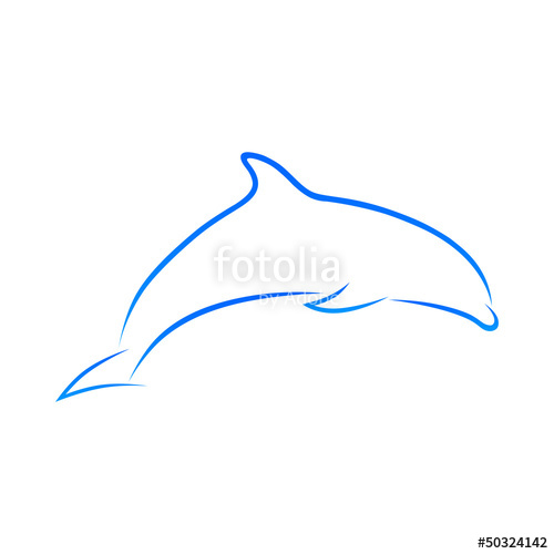 banner stock Vector dolphin dolphine. Stock image and royalty