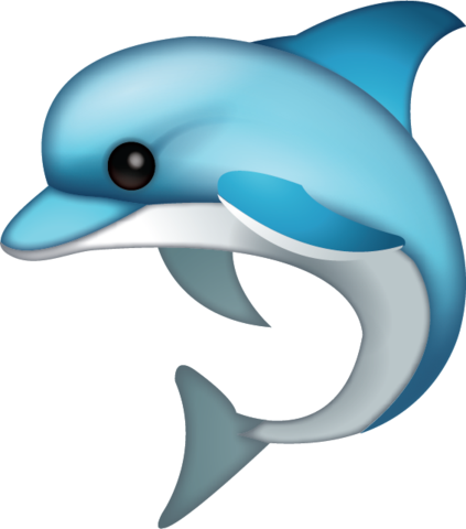 banner stock  dds vs png. Vector dolphin emoji