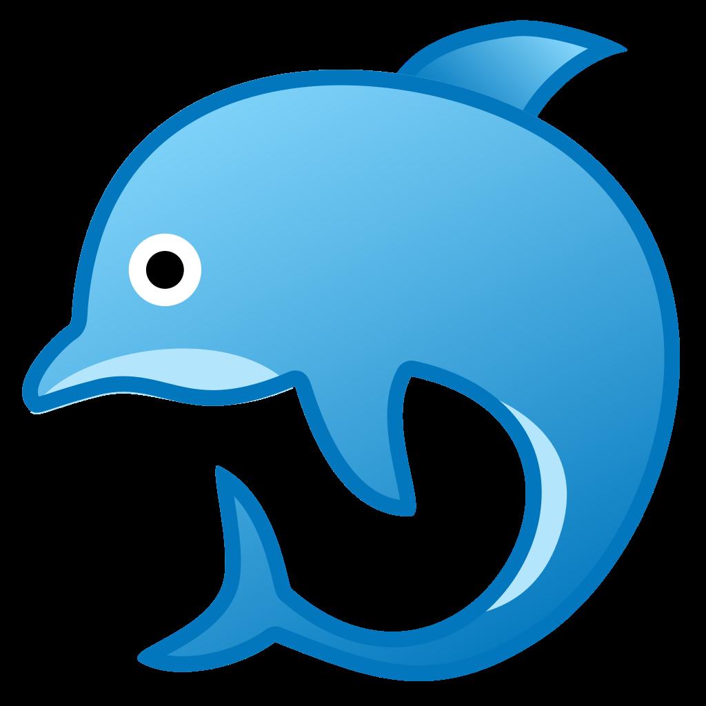 image freeuse download Vector dolphin emoji. Icon noto animals nature