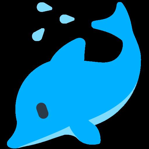vector free vector dolphin emoji #107743817