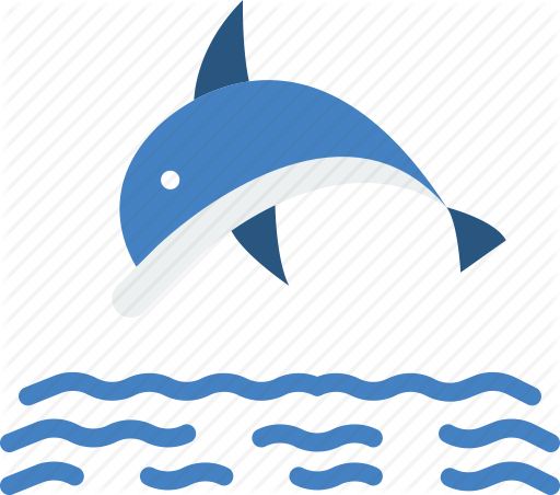 jpg black and white library Vector dolphin flat. Ocean by smashicons sea