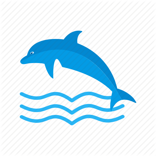 vector black and white download Summer colorful by iconbaandar. Vector dolphin flat