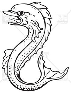 clip transparent library Vector dolphin heraldic. Pin by loura vernosky