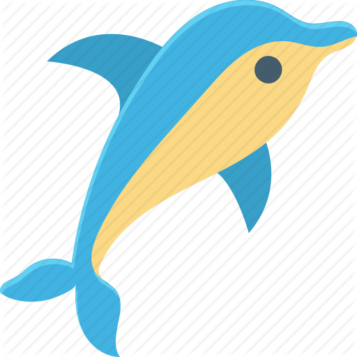 graphic free library Summer and holidays by. Vector dolphin mahi