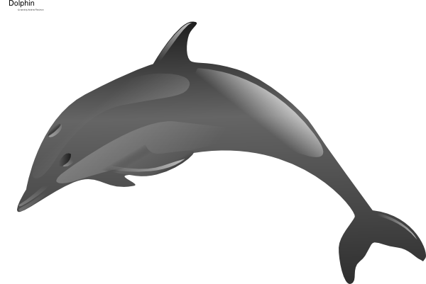 clipart royalty free stock Clip art at clker. Vector dolphin porpoise