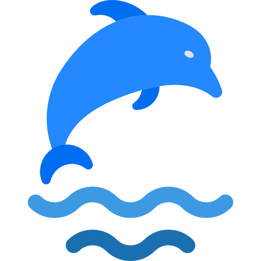 graphic download Vector dolphin shadow. Icon