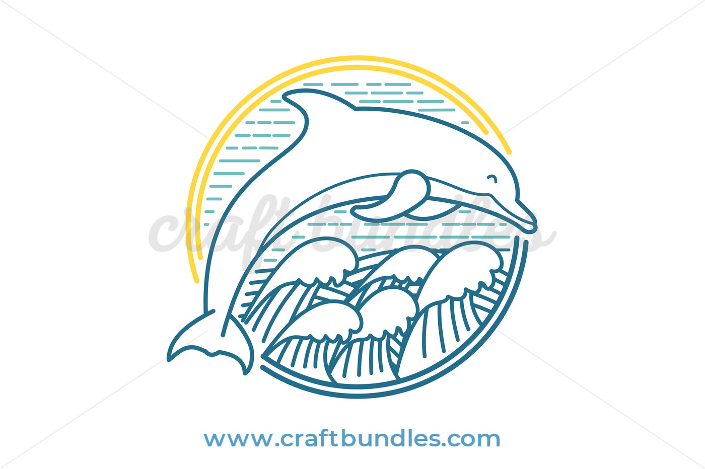 graphic Free cut file by. Vector dolphin svg