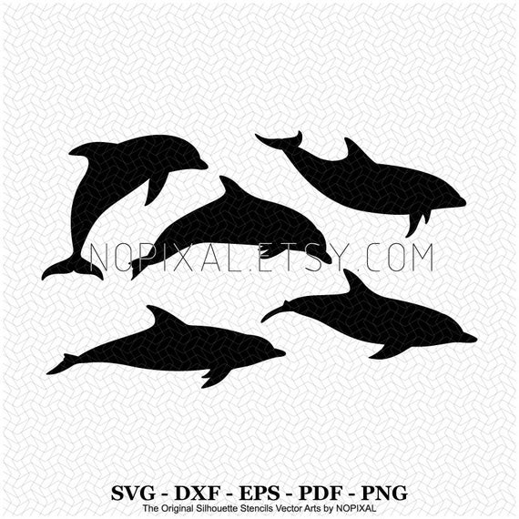 clipart freeuse download Svg pcs swim variations. Vector dolphin swimming
