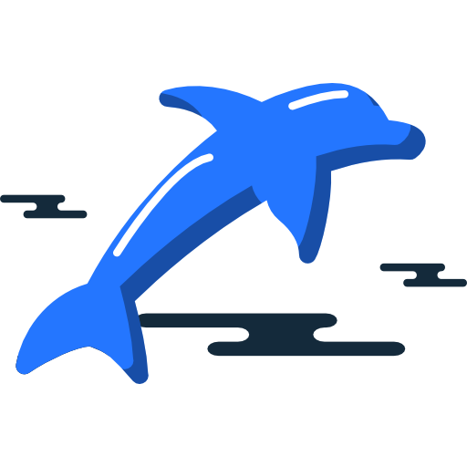 jpg freeuse stock Icon free of miscellanea. Vector dolphin two