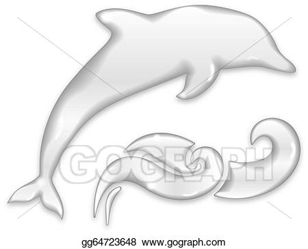 clip art freeuse Eps illustration silhouette of. Vector dolphin water