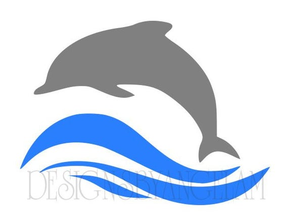 clip black and white download Vector dolphin water. On svg digital cutting
