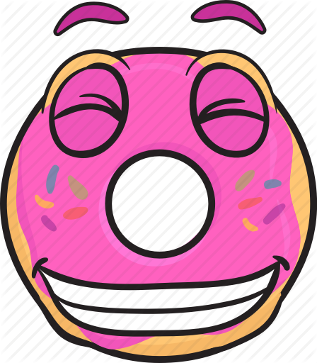 picture royalty free download Vector donut. Emoji cartoons by toons
