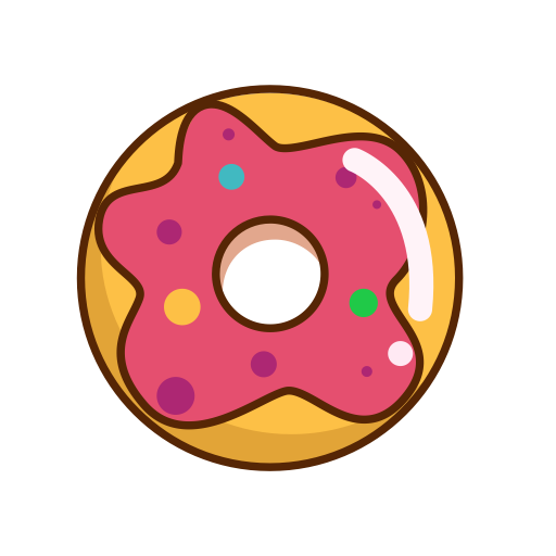 svg freeuse Vector donut. Colorful solid color icon