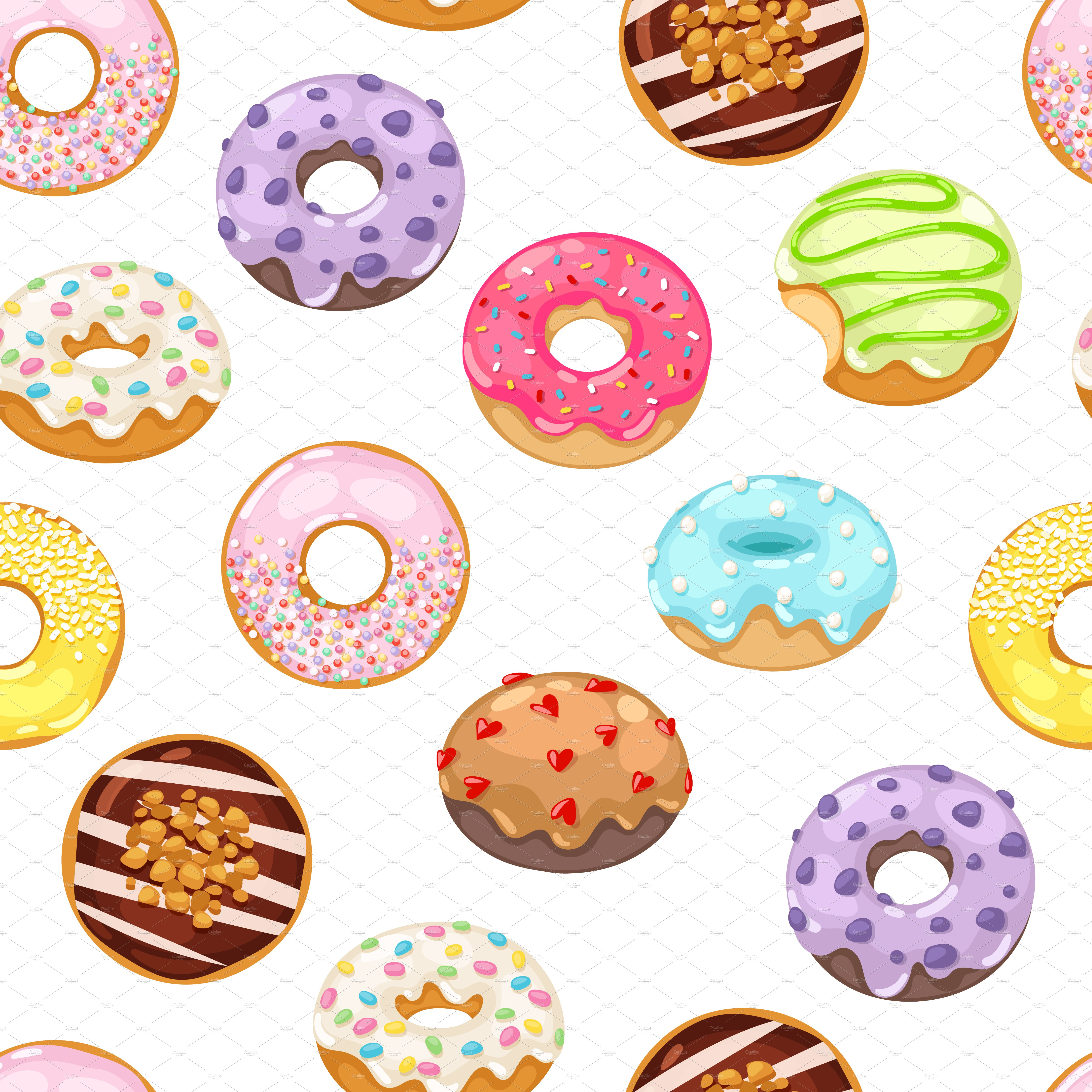 graphic freeuse download Seamless pattern . Vector donut cartoon