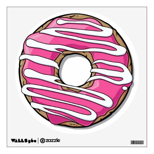 clipart library stock Pink with icing wall. Vector donut cartoon