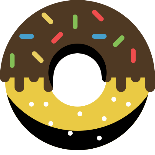 free stock Vector donut chocolate. Eat icon png and