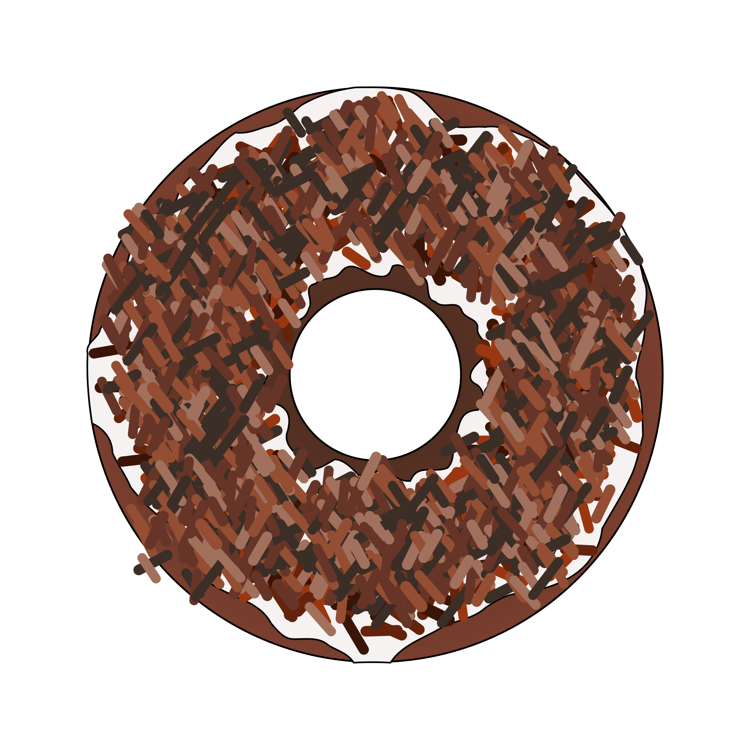 clip art library download Vector donut chocolate sprinkle. Too many brown sprinkles