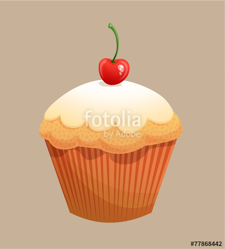 clip art library library Vector donut cupcake. Kuchen stock image and