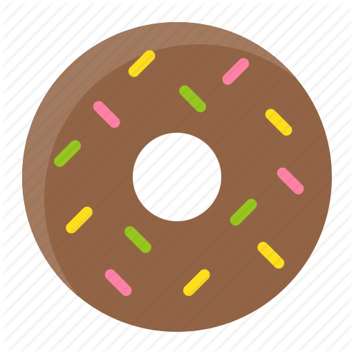 png library Bakery flat by icon. Vector donut cute