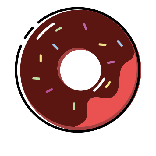 image freeuse stock Vector donut flat. Doughnut fill icon png