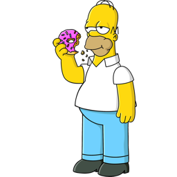 image free download Vector donut homer. Simpson icon simpsons iconset