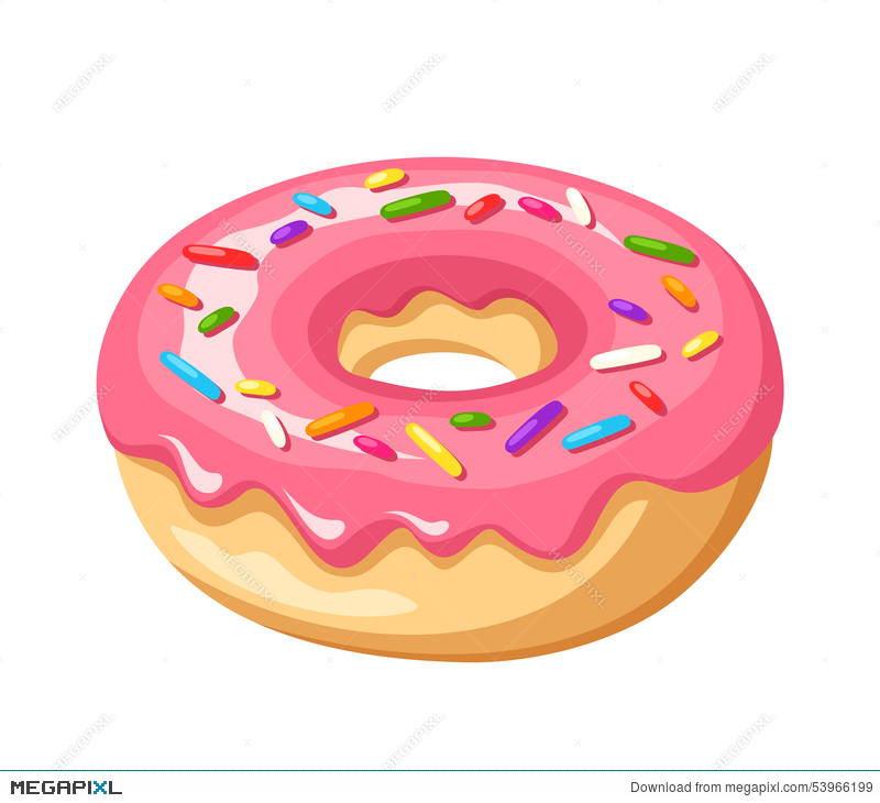 svg freeuse stock Vector donut icing. With pink glaze and