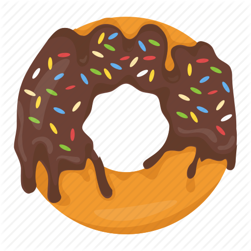 banner freeuse download Vector donut illustrator. Food and drinks by