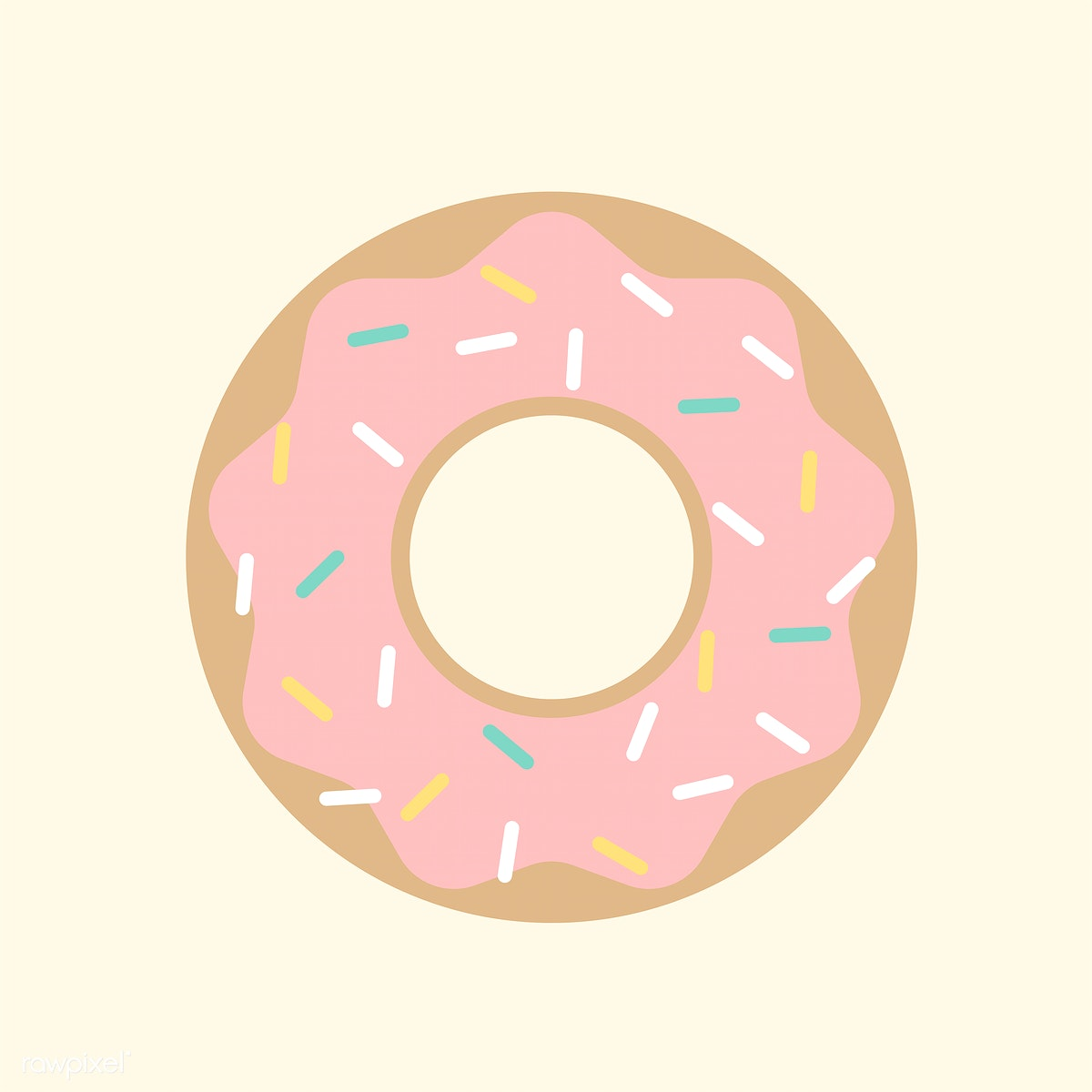 banner transparent download Illustration of a with. Vector donut pastel