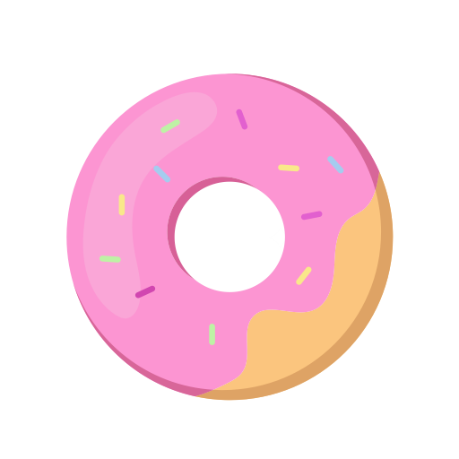 image freeuse stock Face doughnut icon png. Vector donut pink