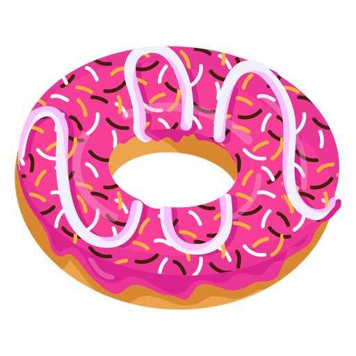 jpg transparent download Vector donut pink. Glaze doughnut with sprinkles