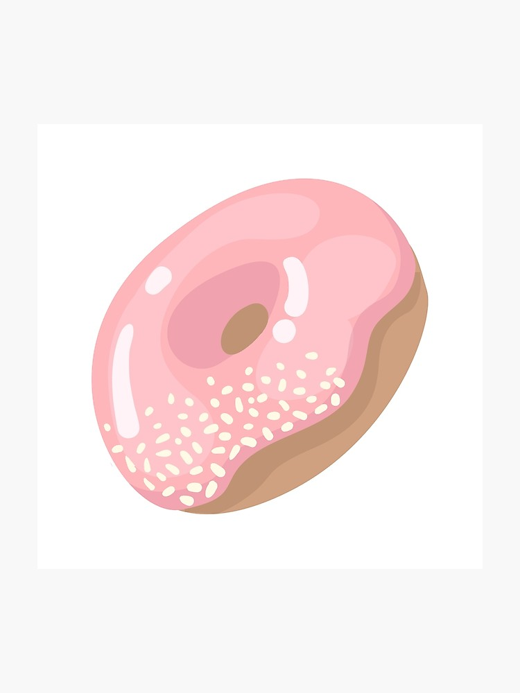 clip black and white library Vector donut pink. Icon sugar glazed cake