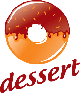 png stock Round with chocolate logo. Vector donut red