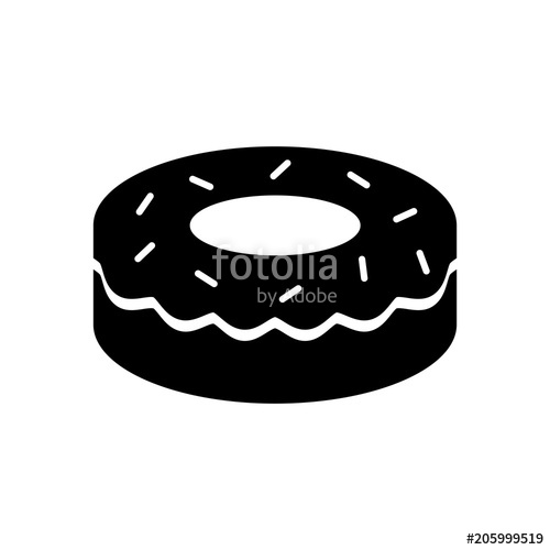 jpg transparent Vector donut silhouette. Stock image and royalty