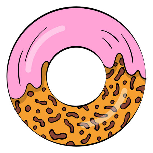 image black and white library vector donut simple #107745534