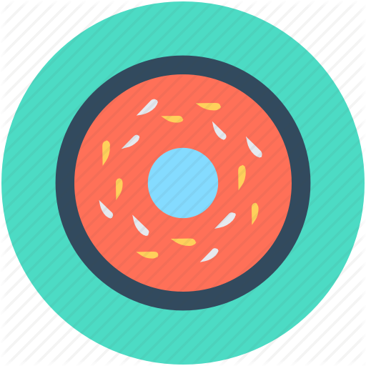 svg black and white library Vector donut teal. Food by vectors market
