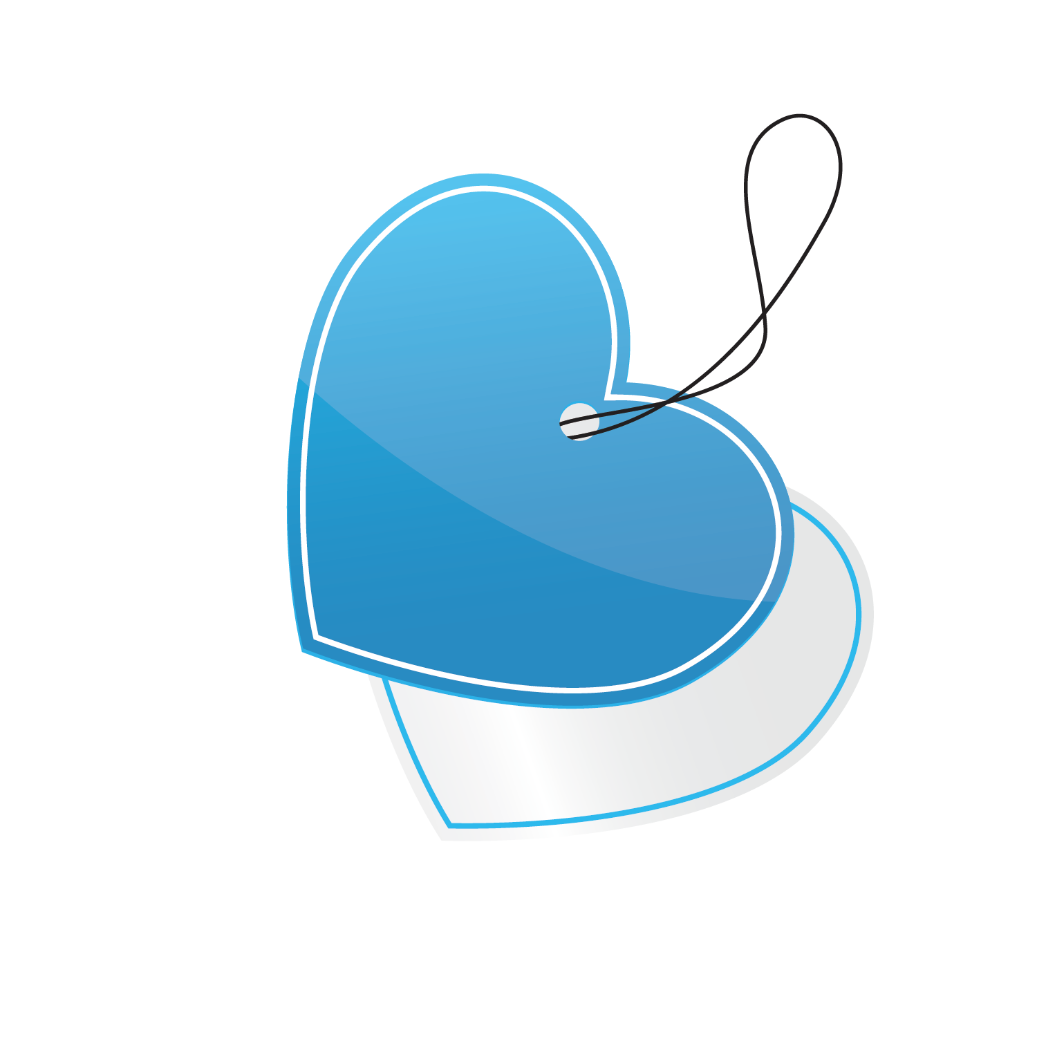 png freeuse library Vector donut teal. Blue heart shaped tag