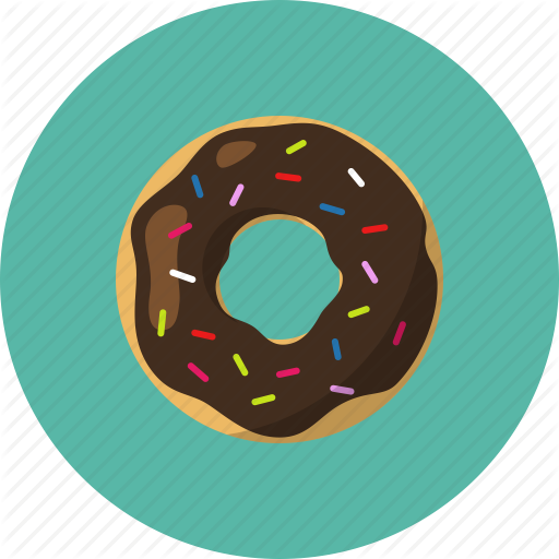 library Food by mr j. Vector donut teal
