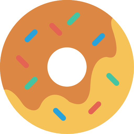 vector black and white Vector donut top view. Free food icons icon