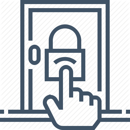 graphic royalty free library Vector door access. Security by bearfruit idea